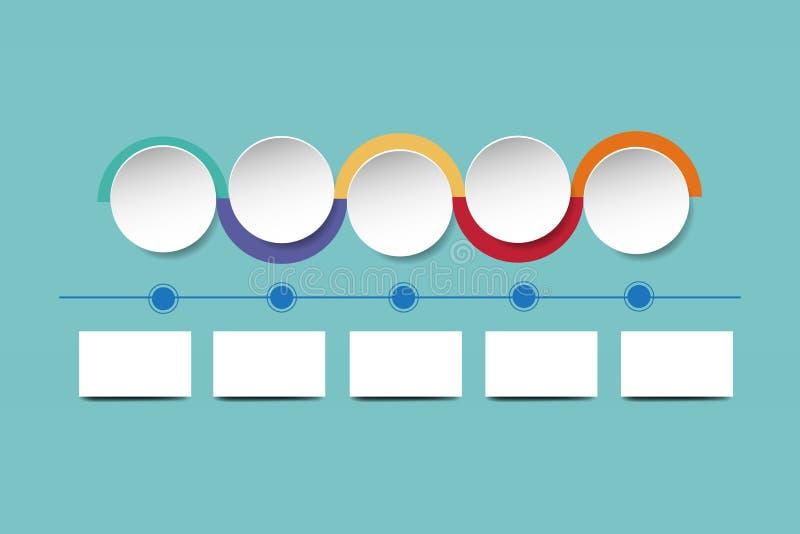 Círculos blancos con los bordes coloridos que muestran la carta de organización libre illustration