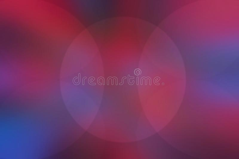Círculos brilhantes borrados sumário no fundo vermelho e azul imagem de stock royalty free