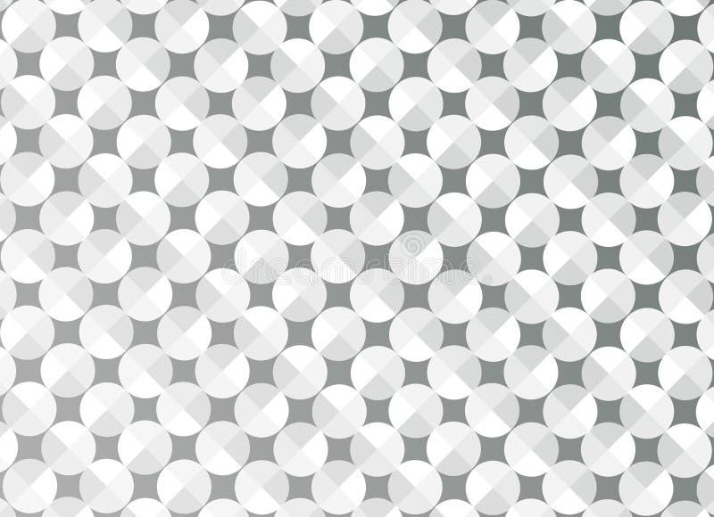 Círculos brilhantes sem emenda do sumário em Grey Background ilustração do vetor