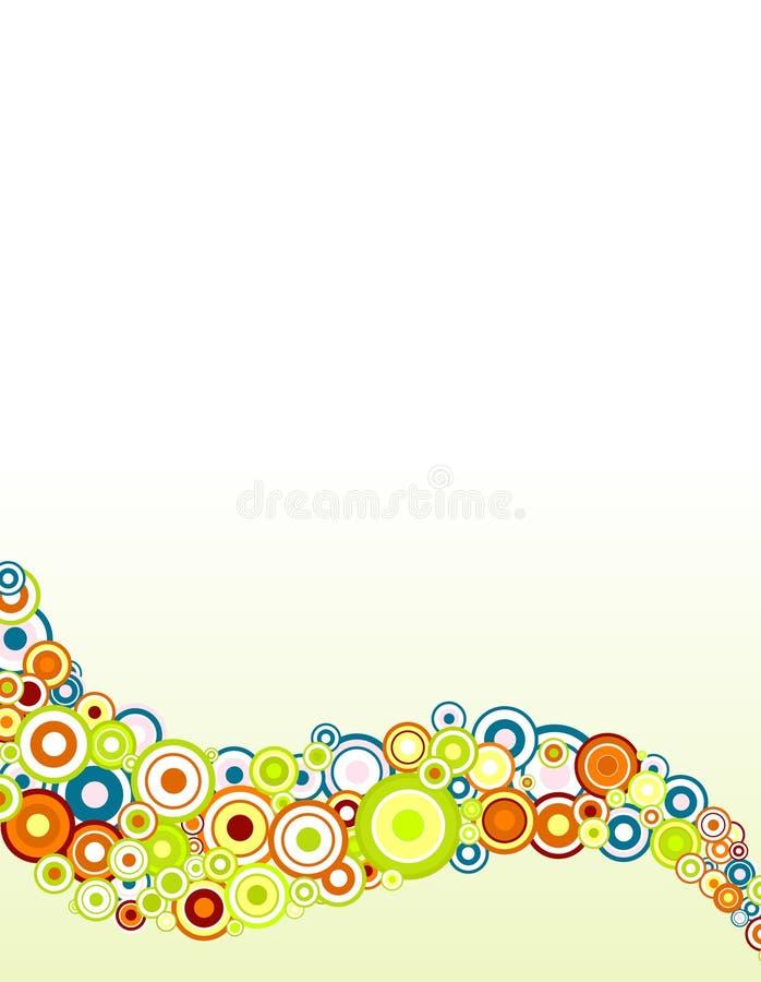 Círculos coloreados con gradiente ilustración del vector