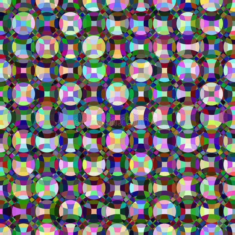 Círculos coloreados del mosaico stock de ilustración