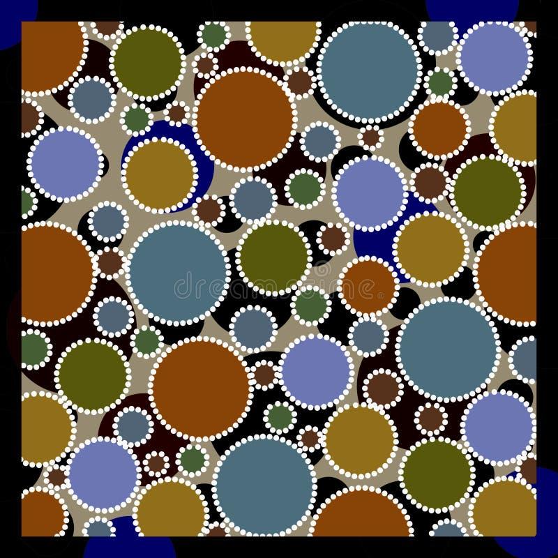 Círculos coloreados terrosos imagen de archivo libre de regalías