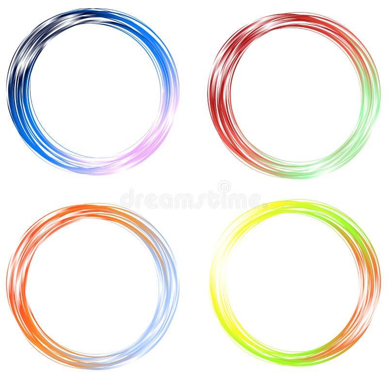 Círculos coloridos stock de ilustración