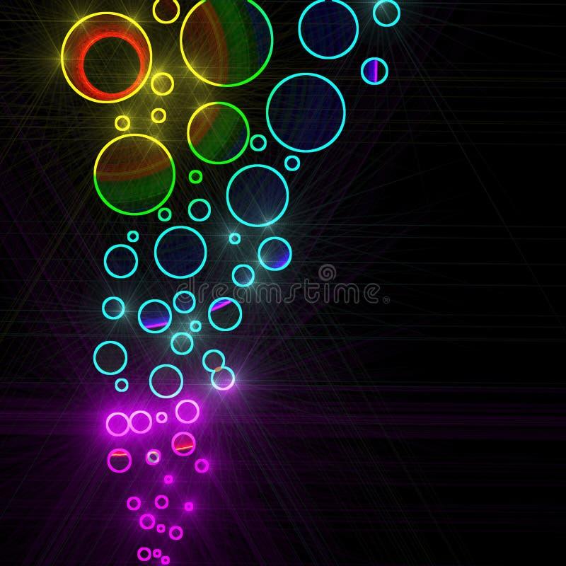 Círculos coloridos abstractos stock de ilustración