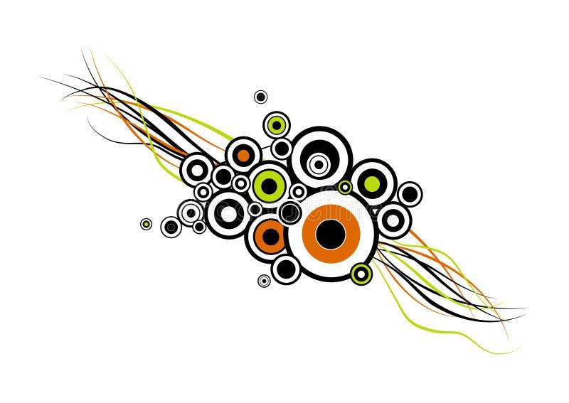 Círculos coloridos com listras. ilustração royalty free
