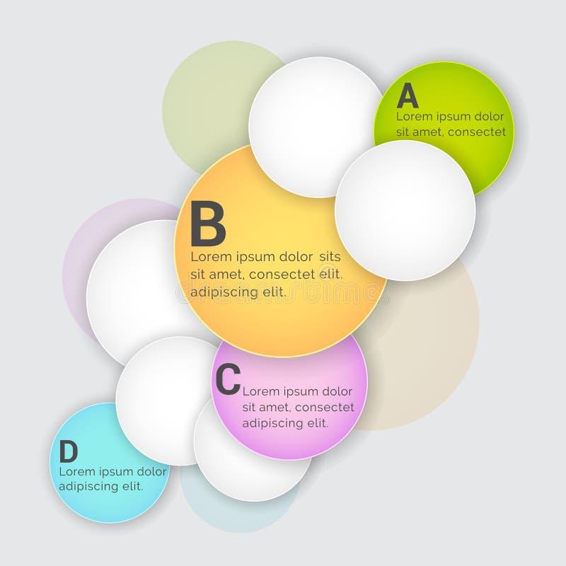 Círculos coloridos de Infographic para el negocio ilustración del vector