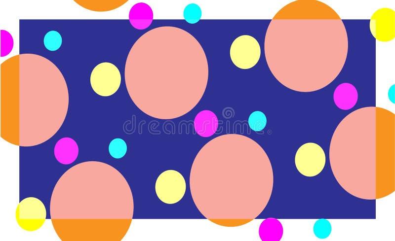Círculos coloridos del fondo del extracto ilustración del vector