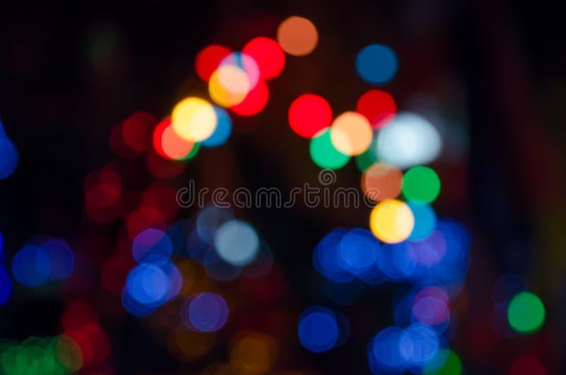 Círculos coloridos do bokeh do fundo abstrato foto de stock