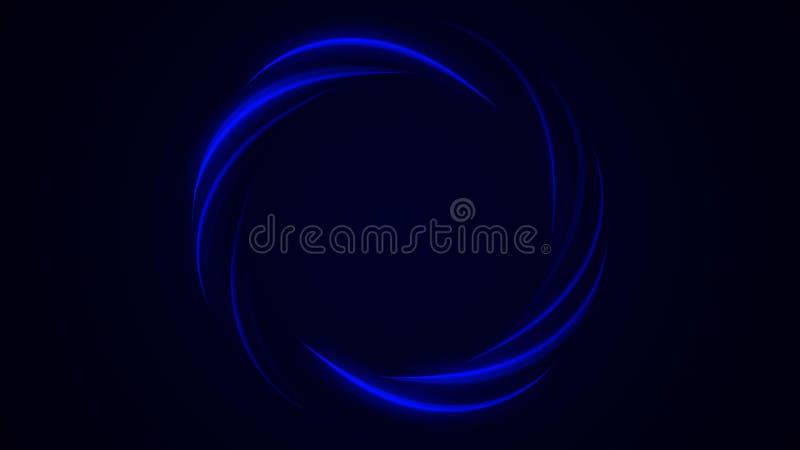 Círculos coloridos que movem-se perpetuamente, hipnose do fundo abstrato, alucinação Loopable Círculos coloridos ilustração do vetor