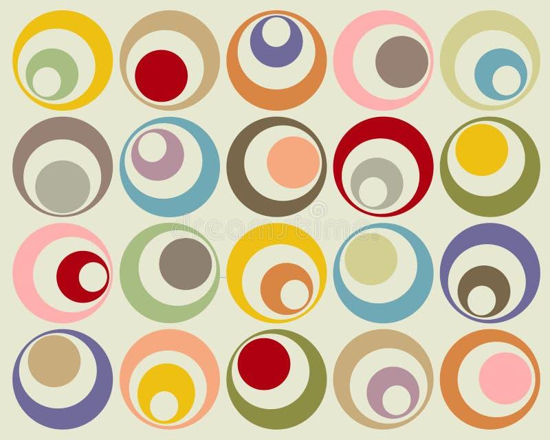 Círculos coloridos retros ilustração do vetor
