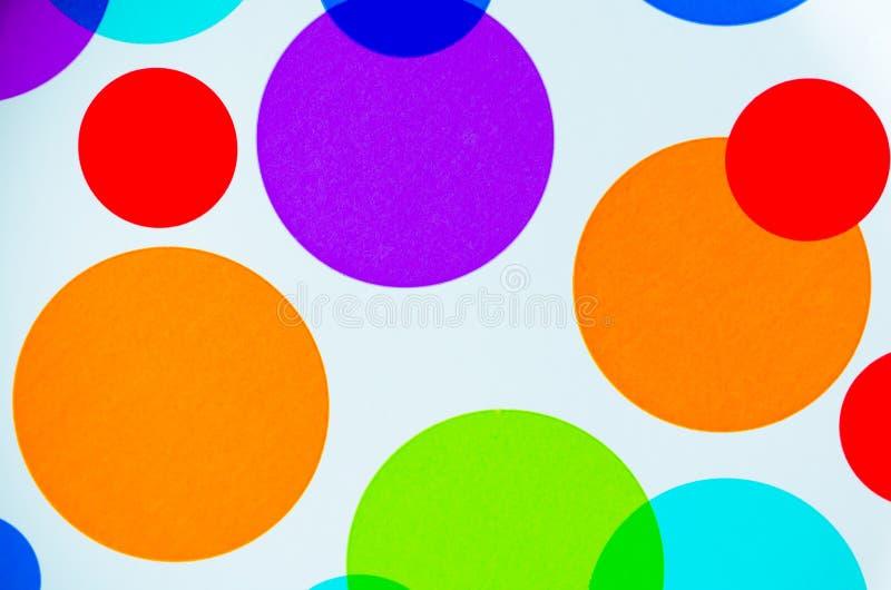 Círculos coloridos vibrantes imagem de stock