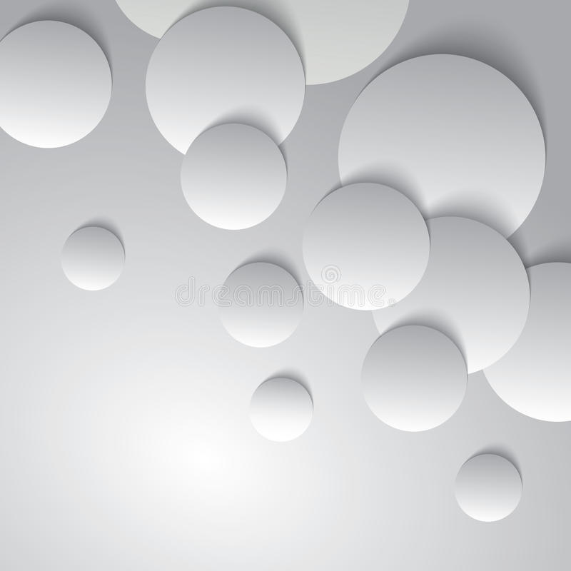Círculos con las sombras de la gota stock de ilustración