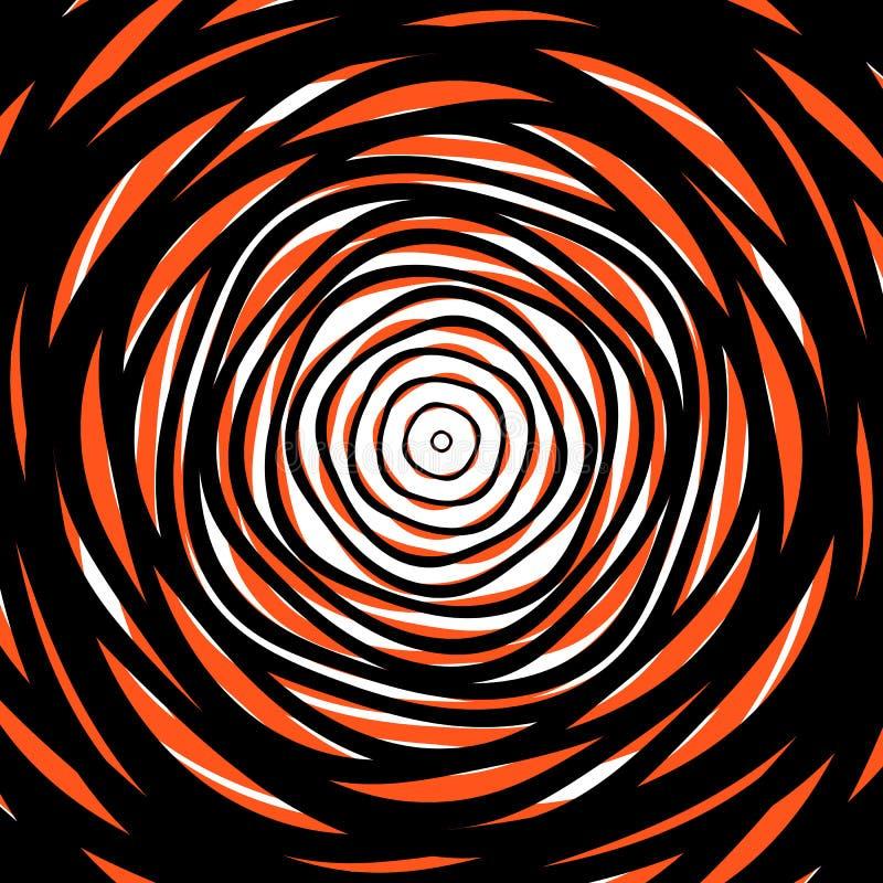 Círculos concéntricos al azar Fondo abstracto con el ci irregular stock de ilustración
