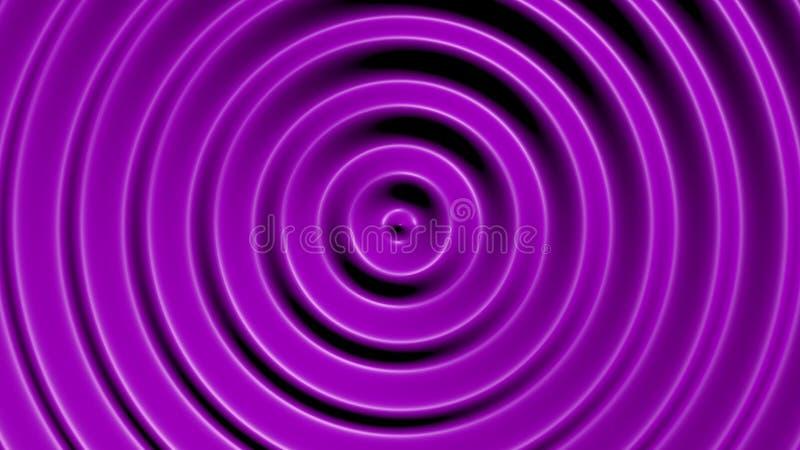 Círculos concéntricos con efecto hipnótico stock de ilustración