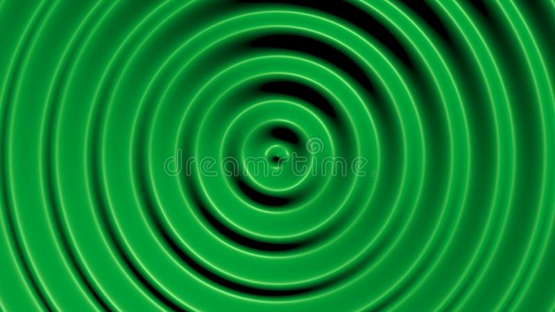 Círculos concéntricos con efecto hipnótico ilustración del vector