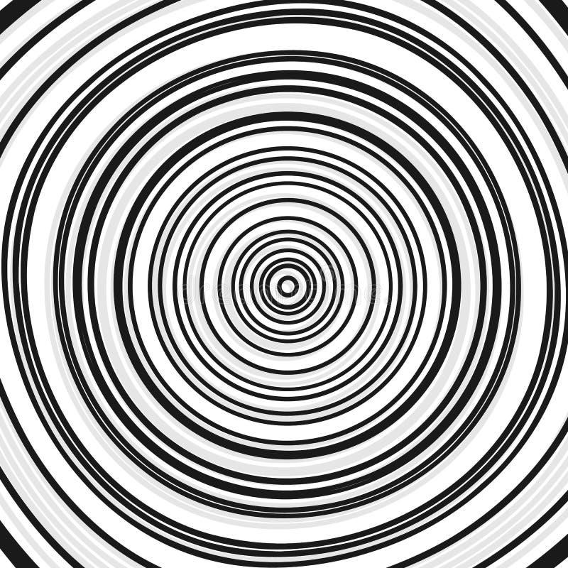 Círculos concêntricos, anéis Ilustração geométrica abstrata com ilustração do vetor