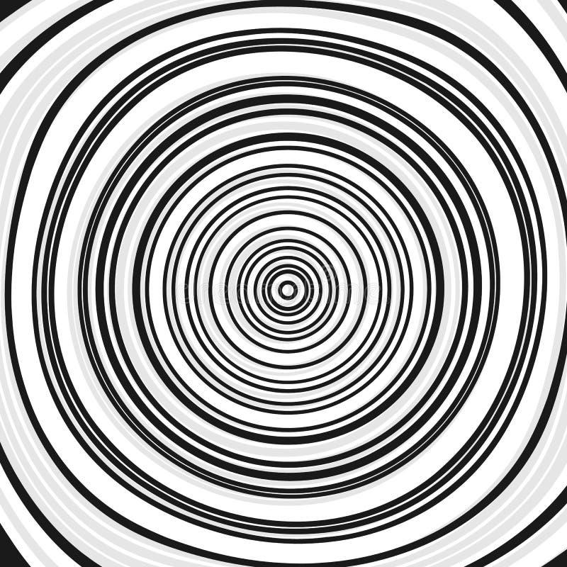 Círculos concêntricos, anéis Ilustração geométrica abstrata com ilustração royalty free