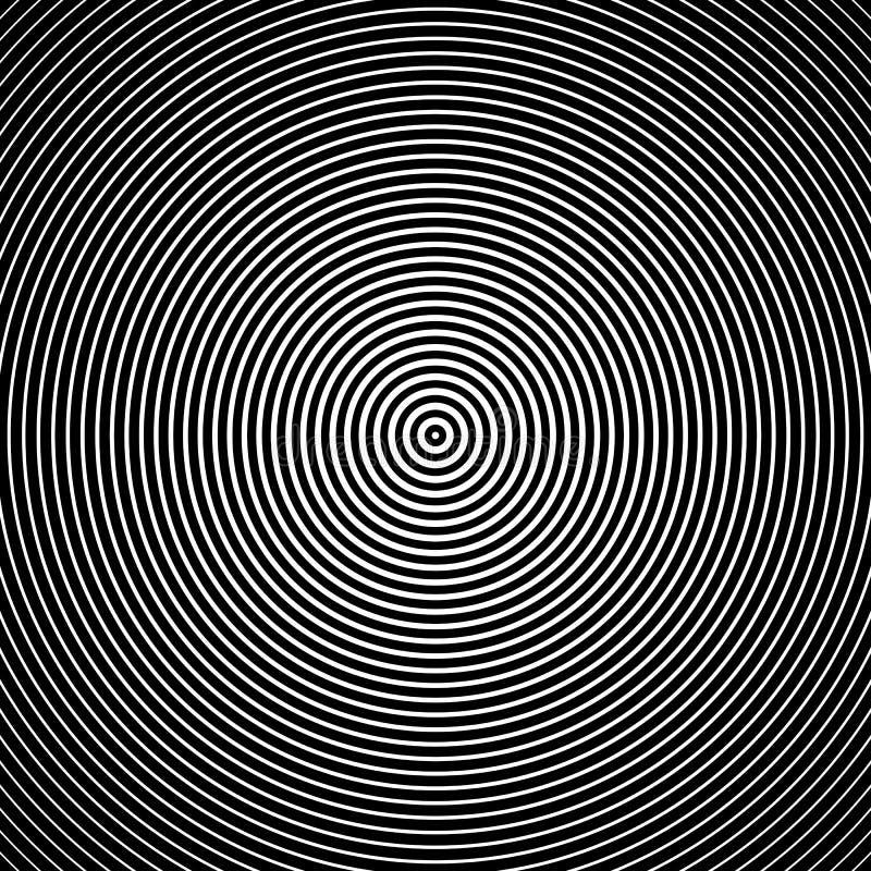 Círculos concêntricos Ilustração do vetor Textura abstrata dos círculos concêntricos ilustração do vetor