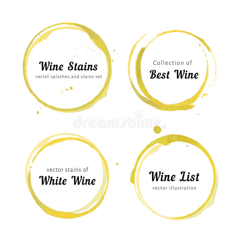 Círculos da mancha do vinho branco ilustração royalty free