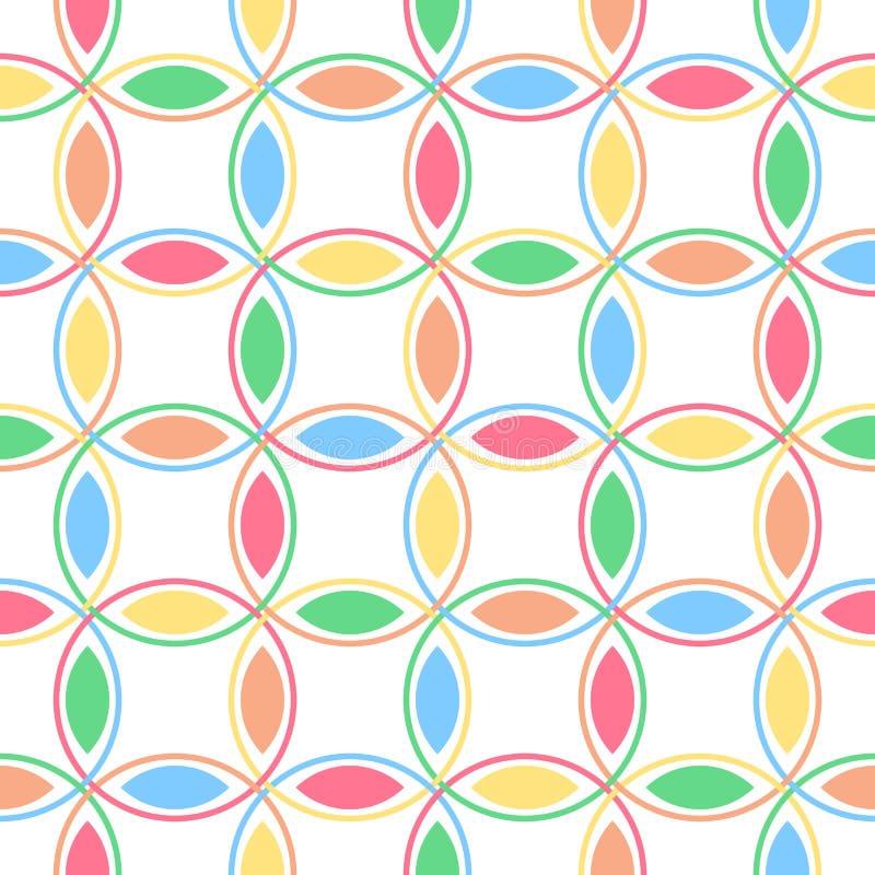 Círculos de bloqueio Pastel ilustração stock