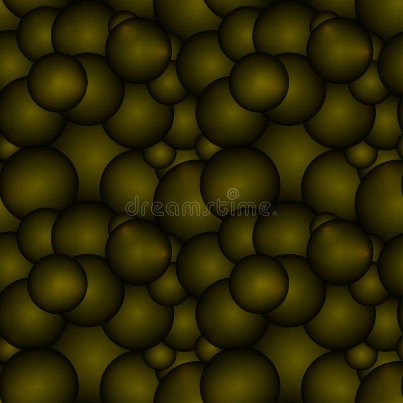 Círculos de bronce oscuros y bolas volumétricas libre illustration