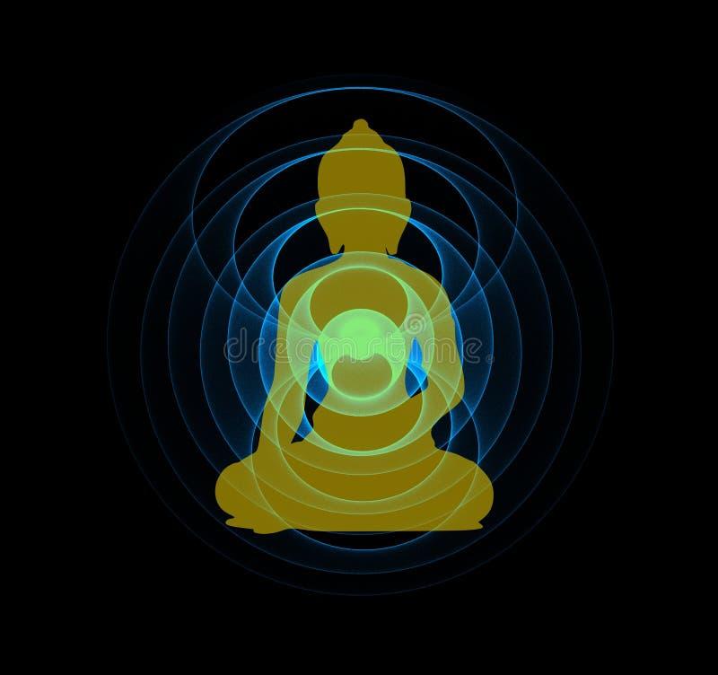 Círculos de Buda y de la energía fotos de archivo