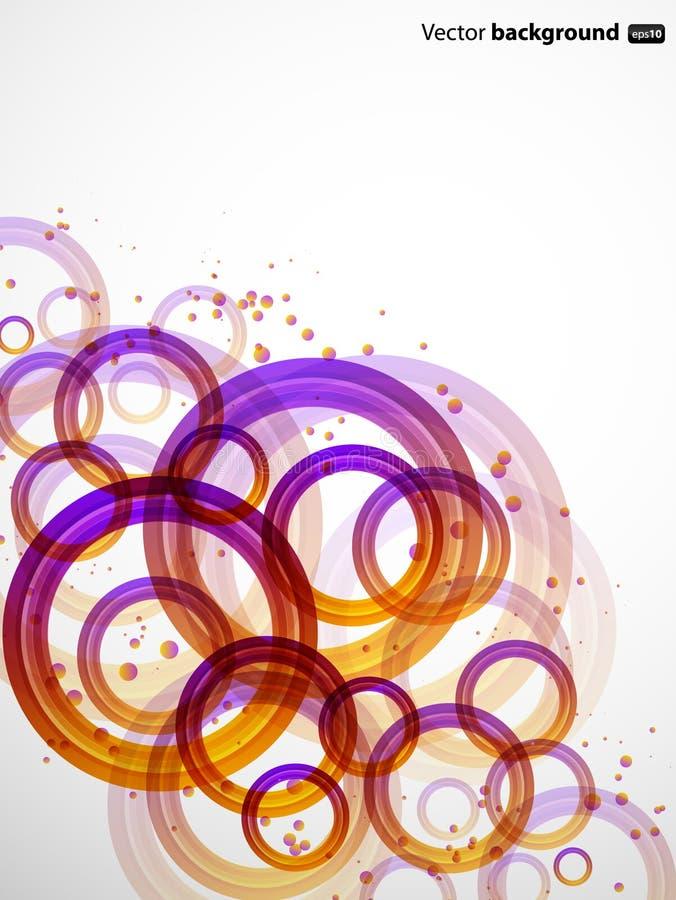 Círculos de color abstractos del ingenio del fondo stock de ilustración