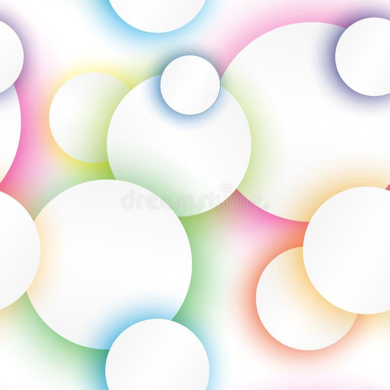 Círculos de color con el fondo inconsútil de las sombras stock de ilustración