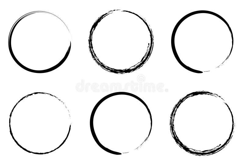 Círculos de Grunge ilustração do vetor