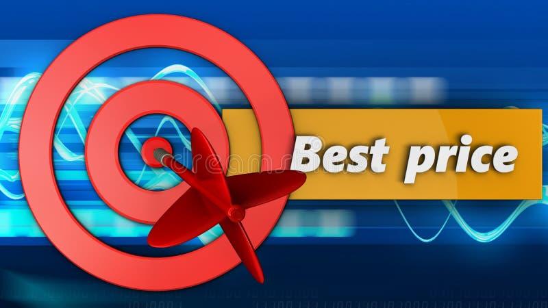círculos de la blanco 3d con la mejor muestra del precio libre illustration