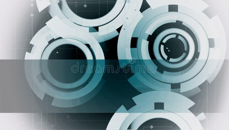 Círculos de la tecnología ilustración del vector