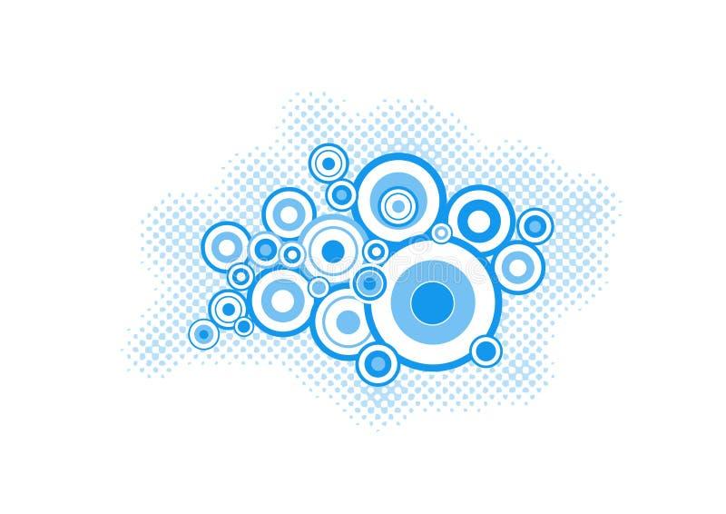 Círculos de la turquesa. arte del vector ilustración del vector