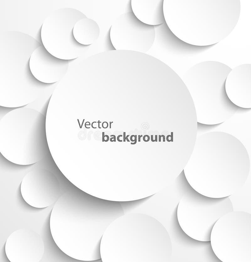 Círculos de papel com sombras da gota ilustração do vetor