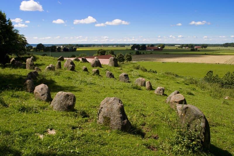 Círculos de piedra fotografía de archivo libre de regalías