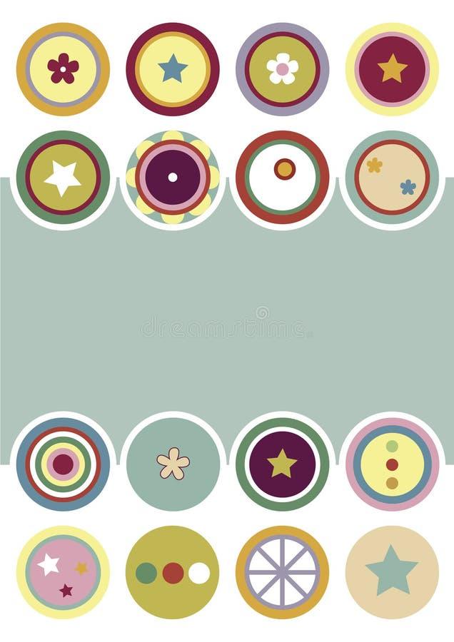 Círculos decorativos Backgroud ilustração do vetor