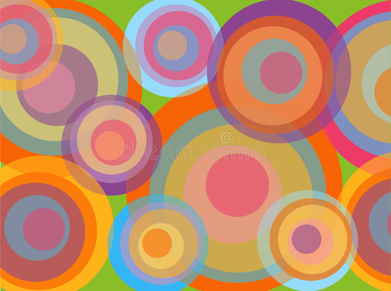 Círculos del disco de Psychadelic ilustración del vector