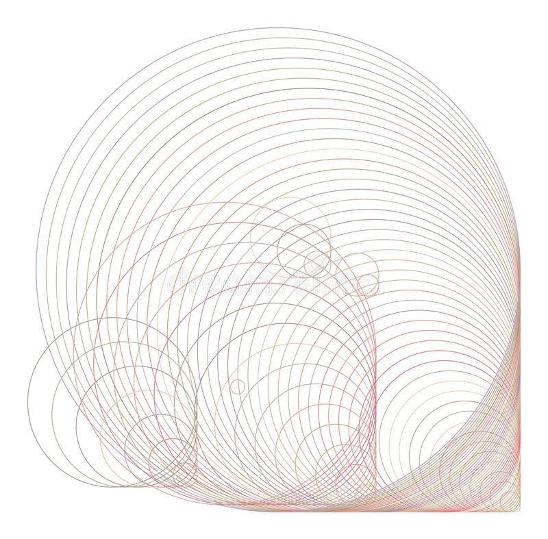 Círculos del fondo, burbujas, esfera o modelo geométrica abstracta de las elipses para el diseño Web, creativo, repetición y form ilustración del vector