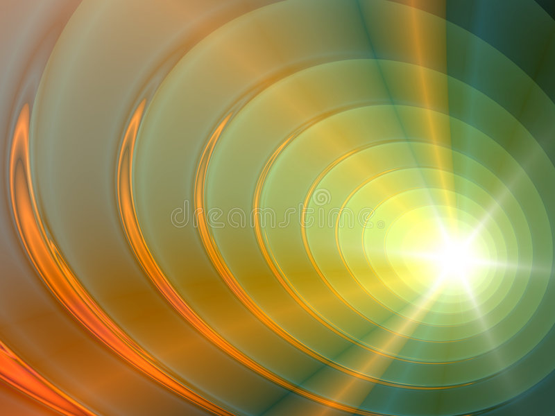 Círculos del fractal stock de ilustración