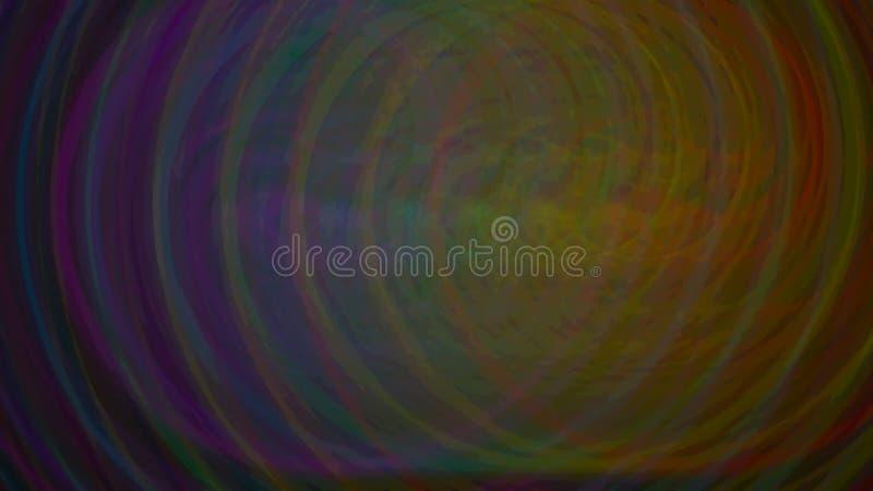 Círculos do cartaz do fundo da série do arco-íris ilustração stock