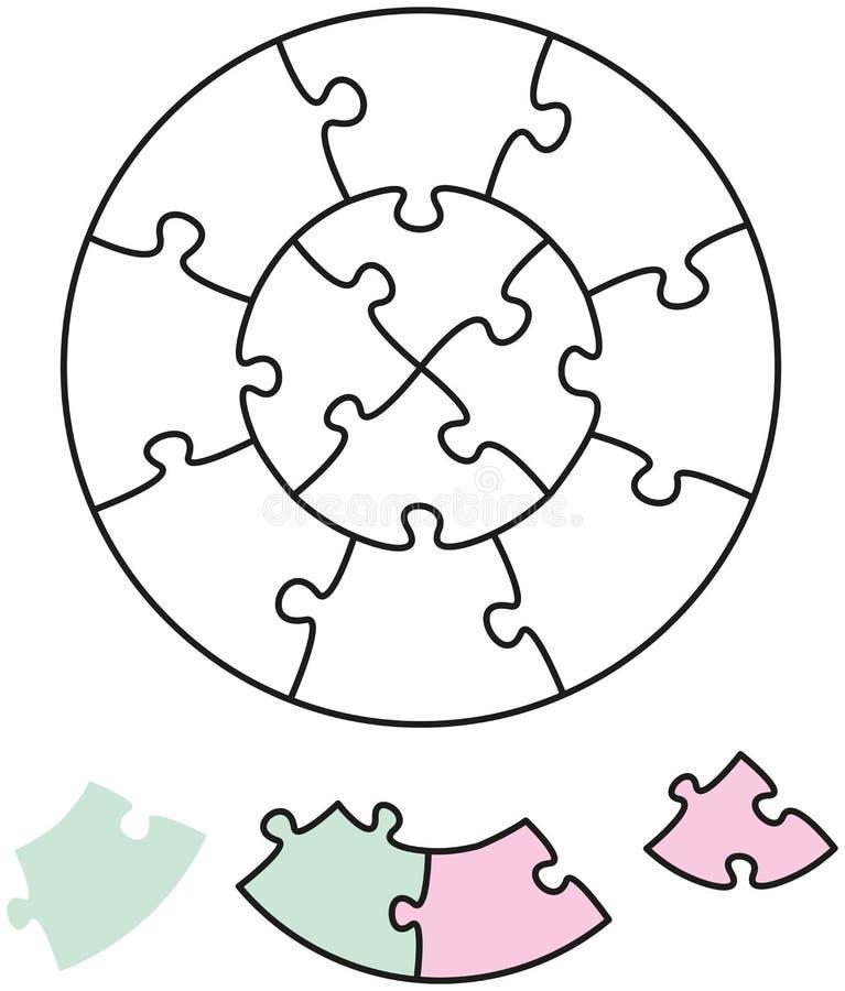Círculos do enigma de serra de vaivém dois ilustração do vetor