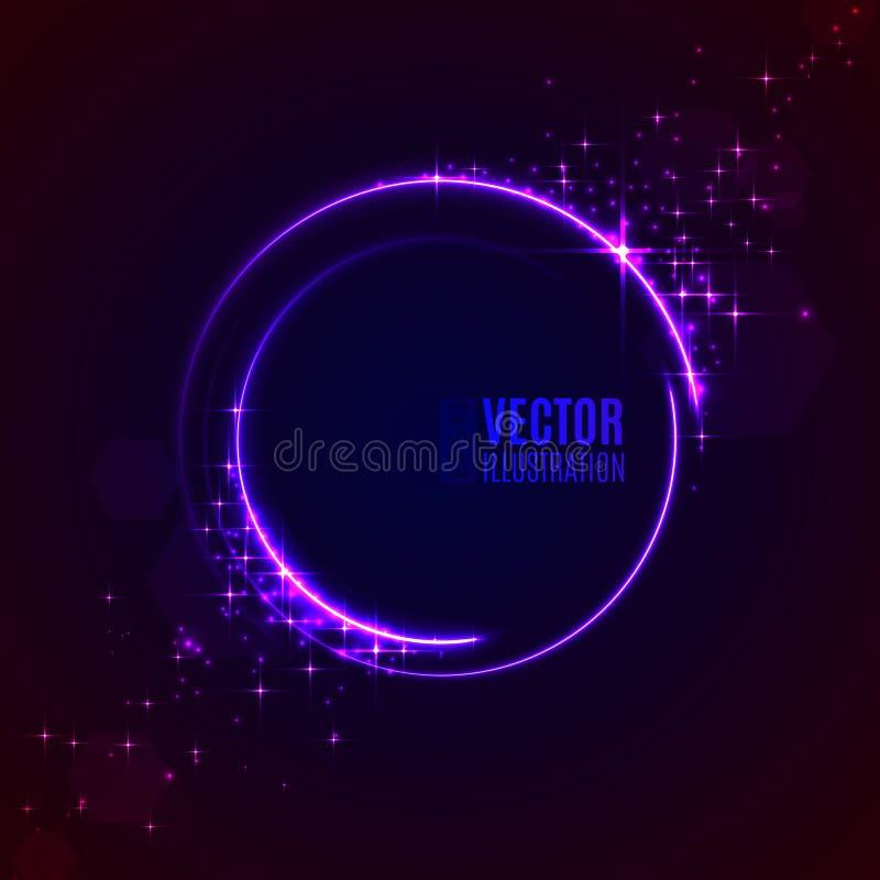Círculos do fulgor do sumário da energia ilustração do vetor