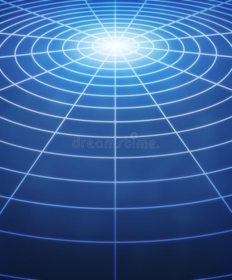 Círculos do globo ilustração stock