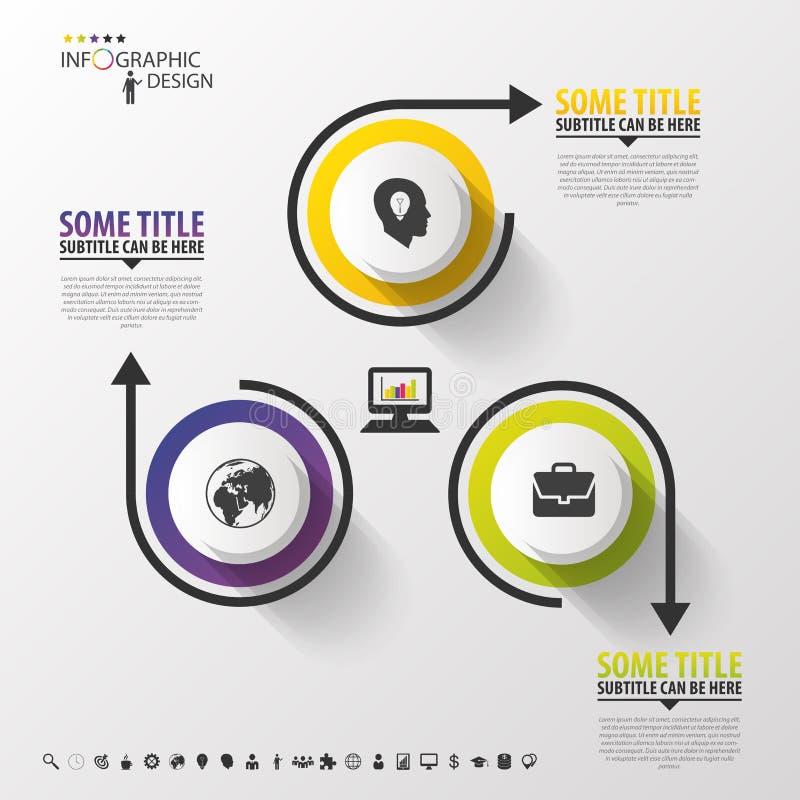 Círculos do projeto de Infographic no fundo cinzento Ilustração do vetor ilustração royalty free