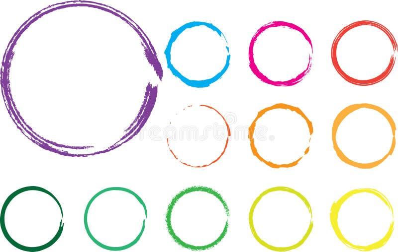 Círculos do vetor ilustração stock
