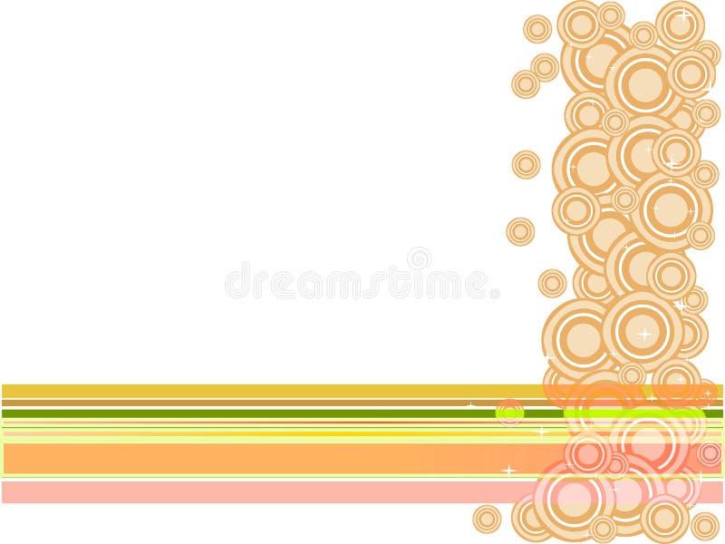 Círculos e estrelas cor-de-rosa ilustração royalty free