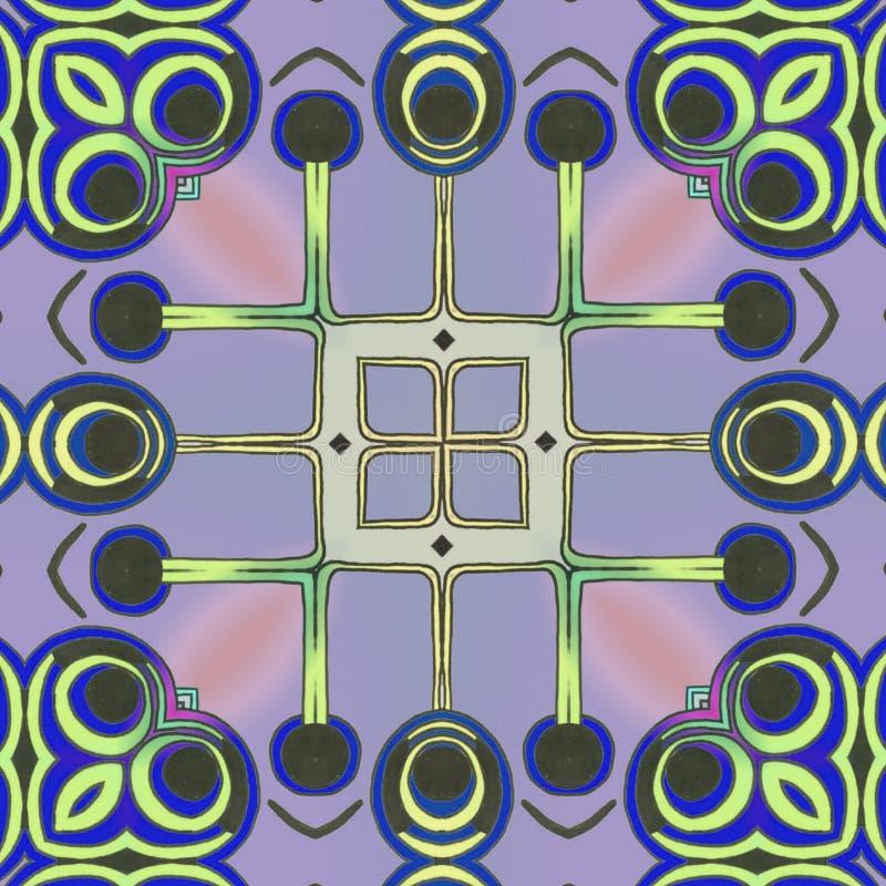 Círculos e linhas arte abstrato ilustração do vetor