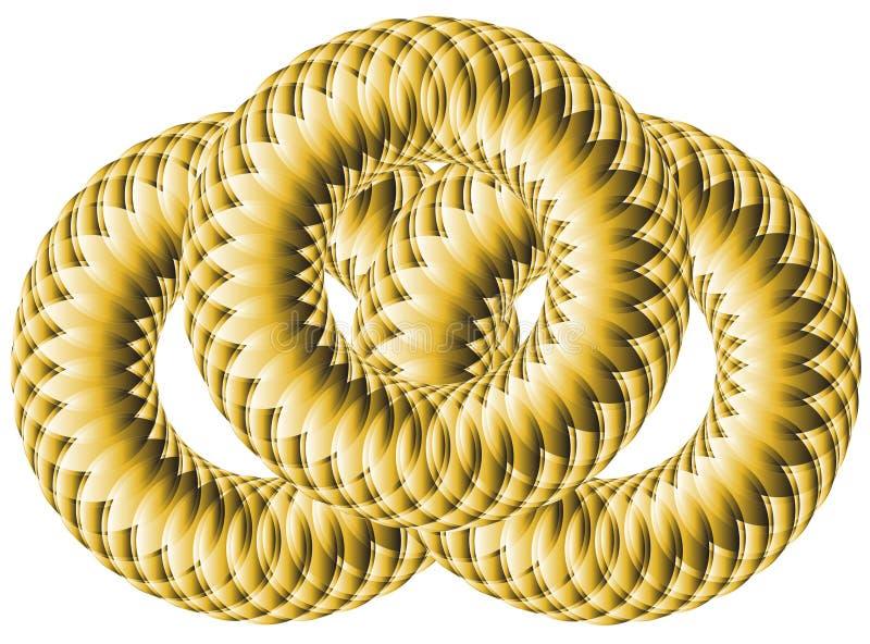 Círculos em um círculo que cruza-se imagem de stock