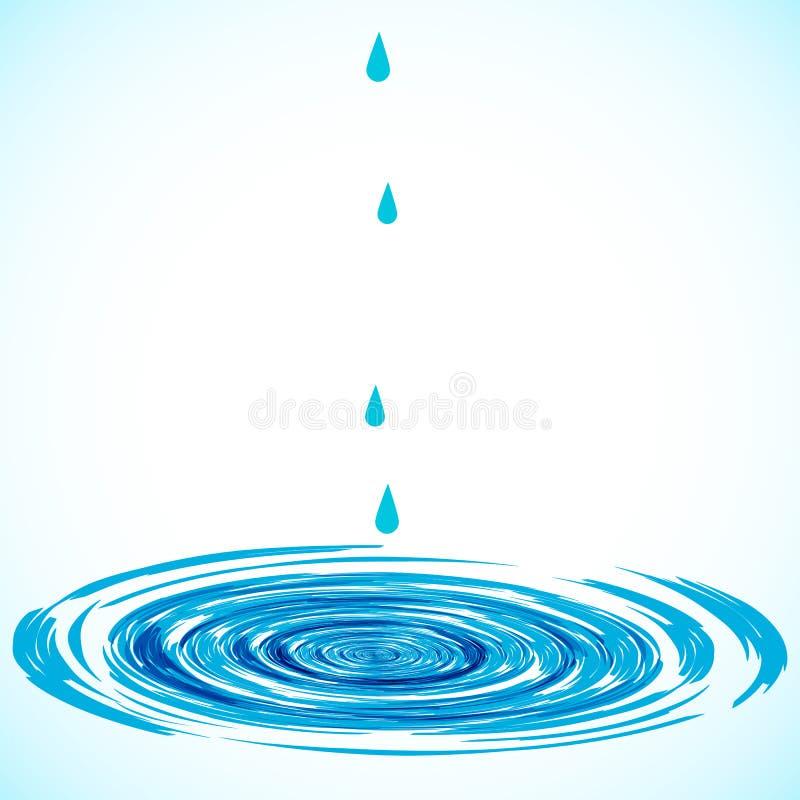 Círculos en el agua. stock de ilustración