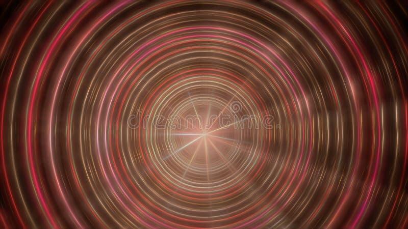 Círculos escuros abstratos da energia ilustração stock