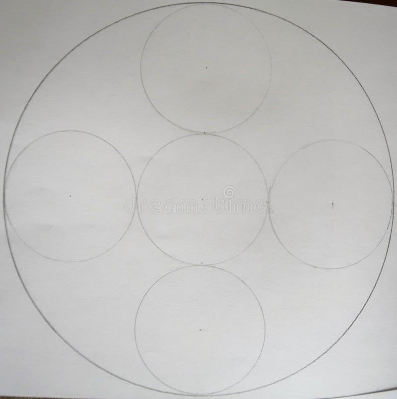 Círculos feitos dos círculos imagens de stock